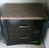 brown wooden 2-drawer nightstand Tampa