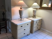 2 High End Nightstands and Lamps FREE DELIVERY  Tampa, 33615