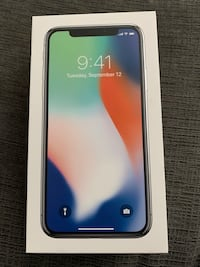 Brand New in Box iPhone X  Unlocked 256 Silver - No TRADES, cash only Westmont, 60559