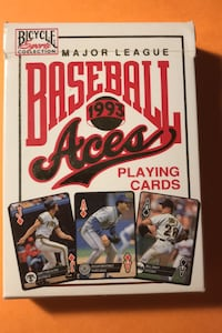 1993 Aces Major League Baseball Playing Cards/Full Deck 1992 Leaders
