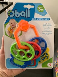 Brand new Oball grip and teething keys. Mississauga, L5R