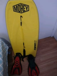 Bodyboard and fins