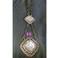 silver chain link necklace with pendant Spruce Grove, T7X 0A7
