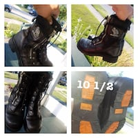 Black ridihg leather boots 10 1/2 Elkhart, 46514