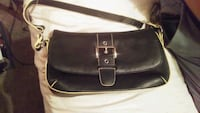 women's black and brown leather sling bag Cambridge, N1R 7V2