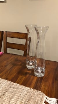 Pair of glass vases  Gaithersburg, 20879