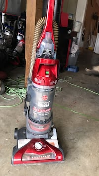red and gray Hoover upright vacuum cleaner Dallas, 30132