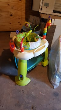 baby thing good condition walker , stroller $100.00, bouncy 50., playpen gray color brand new$75. LINDEN