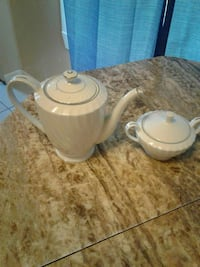 white ceramic tea pot and saucer Lincoln Park, 48146