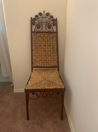 Vintage Chair - wicker rattan peacock style chair / SEE DESCRIPTION