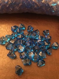 Party Planners - 38 lbs of Decorative Blue Translucent Acrylic Rocks CHARLOTTE