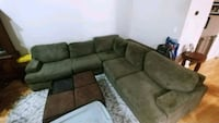 brown suede sectional sofa with throw pillows Modesto, 95351