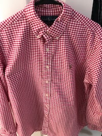 Large Ralph Lauren Pink Checkered Button-up Springfield, 22152