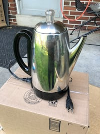 Stainless Steal Electric Coffee Pot Percolator