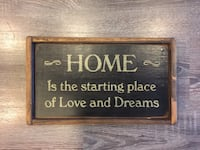 Home Is the starting place of Love and Dreams (Wood Sign)