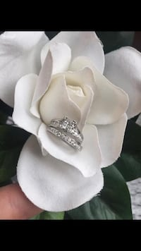 White Gold and Diamond Engagement & Wedding Band Set worth over $2400 St Albert, T8N 3B9