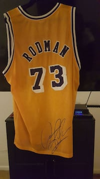 Authentic Lakers jersey worn in the game and signe