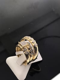 silver and diamond studded ring Miami, 33125