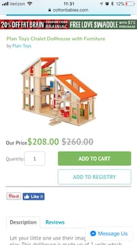Plan Toys dollhouse with furniture screenshot Laurel, 20707