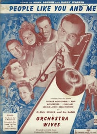 1942 PEOPLE LIKE YOU AND ME GLENN MILLER ORCHESTRA WIVES ANTIQUE SHEET
