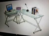 Office desk-glass clear Visalia, 93292