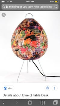 Table Desk Lamp 'Thinking Of You' Lady Aiko Moore, 73165