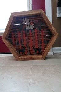 Hand made and painted wood wall decor