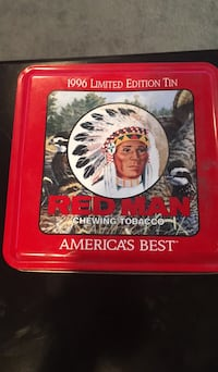 1996 Limited Edition Red Man Chewing Tobacco Tin Sioux Falls