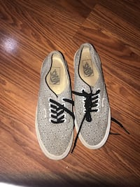 White and gray low top Vans (size:  8 woman) Laredo, 78041