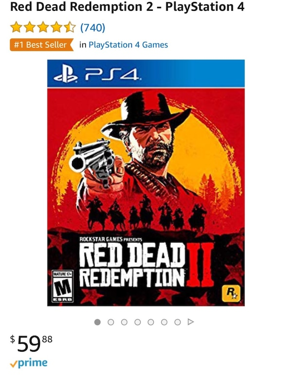 New!!!! PS4 pro Red death redemption II!!