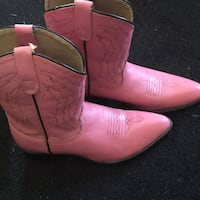 pair of pink leather cowboy boots Ijamsville