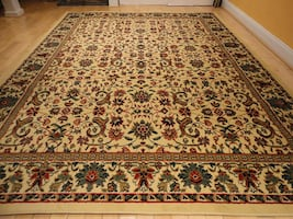 NEW Beige area rug Traditional rug