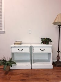 white wooden single pedestal desk Woodstock, 30188