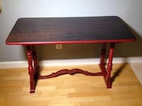 Red Library Table or Side Board with Stained Top Spring