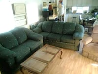 Sofa loveseat coffee table 2 end tables all for $1 Hemet, 92543