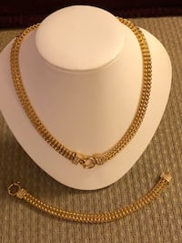 New gold plated necklace and bracelet for women  Rockville, 20852