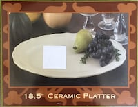 """18.5"""" Ceramic Platter / Dishwasher & Microwave Safe - BRAND NEW IN BOX. Three Available.  **See what else I have for sale** Stockton, 95209"""