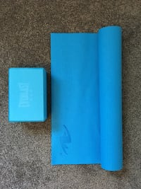 Blue Yoga mat and exercise block Spruce Grove, T7X 0S7