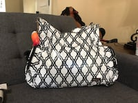 white and black floral tote bag Baton Rouge, 70816