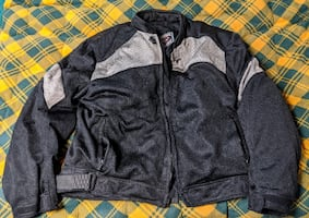 River Road Sedona Men 3XL mesh motorcycle jacket with EVA foam armor,  Excellent Condition!  Abrasion-Resistant, Polyester Mesh Allows Maximum Air Flow. A Removable, Insulated, Fully-Sleeved Liner Offers Warmth in Slightly Cooler Temperatures. Removable o