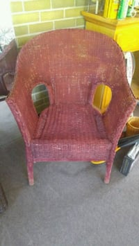 red and brown wooden armchair Barrie, L4M 5R5