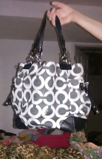 black and white Coach monogram tote bag Arnold, 63010