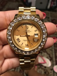 round gold-colored Rolex analog watch with link bracelet Pittsburg, 94565