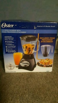 black Oster 12-speed blender with food processor a Buffalo, 14216