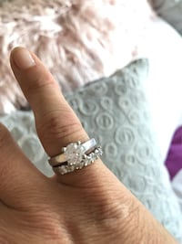 Diamond wedding ring and band. Proof of quality and all other info and price purchased for. Belmont, 94002