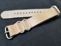 Genuine leather NATO watch band. 22mm