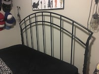 Queen sized wrought iron bed frame