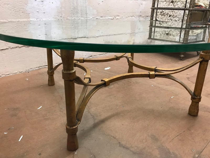 1940s glass coffee table 7a90630f-c054-4129-ba25-a8a86f5bc348