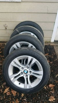 gray BMW 5-spoke vehicle wheel and tire set Clinton, 20735