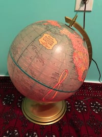 Vintage Illuminated globe  Surrey, V3T 2S4
